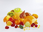 Assorted candied fruit
