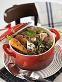 Puy lentil stew with pork