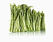 Bundles of green asparagus