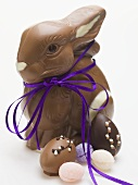 Chocolate Bunny and assorted Easter sweets