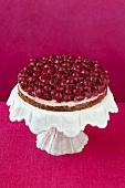 Red wine cherry cake