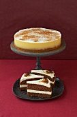 Egg punch cake and chestnut cake