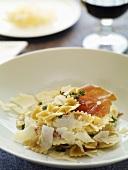 Farfalle prosciutto e timo (Pasta with Parma ham & thyme, Italy)