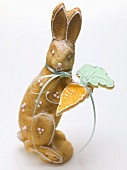 Baked Easter Bunny with carrot biscuit