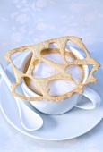 Cappuccino with heart lattice
