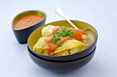 Golabki & tomato sauce (Cabbage leaves stuffed with mince & rice)
