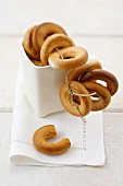 Polish bread rings threaded on string