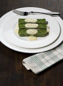 Sformato di spinaci (Spinach terrine with cheese sauce, Italy)