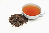 Tea made from Isatis tinctoria (woad)