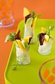 Avocado and mango maki