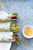 Haddock wraps with spicy sauce