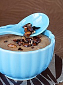 Mousse au chocolat with caramelised pine nuts
