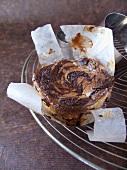 Individual chocolate cheesecake