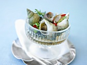 Whelks with chilli rings