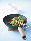 Vegetables in wok