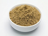 Seasoning mixture for pâtés in a small bowl