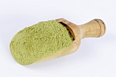 Blue fenugreek (Trigonella melilotus-coerulea) in wooden scoop