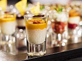Tapioca and apricot cream verrine