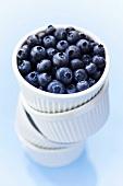 Blueberries in stacked ramekins