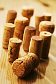 Several different wine corks