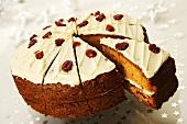 Orange and cranberry cake (Christmas)
