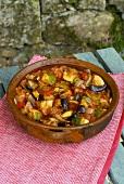 Ratatouille in a terracotta dish