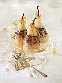 Baked pears with nut and chocolate filling