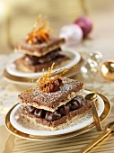 Chocolate cake with chestnut cream