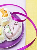 Assorted petit fours for Easter
