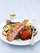 Red mullet with grilled vegetables