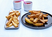 Chips and sweet potato chips