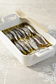 Anchovies in salt and olive oil