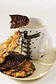 Florentines with a mug of tea