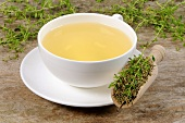 A cup of tea with rupturewort