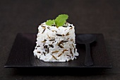 Moulded wild and basmati rice with lemon balm