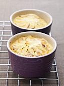 Potato gratin in small dishes