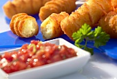 Potato croquettes (frozen food)