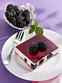 Blackberry yoghurt slice