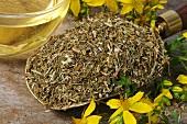 Dried St. John's wort for tea
