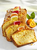Kumquat loaf cake made with cottage cheese