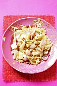 Lazanki (pasta with cabbage and onions, Poland)