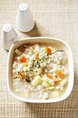 Krupnik (Barley soup from Poland)