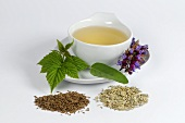 Herbal tea with sage, fennel, caraway and raspberry leaves
