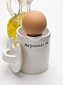 Egg, oil and mayonnaise pot