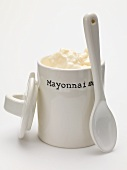 Mayonnaise in a pot