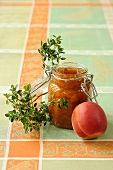 Apricot jam with thyme
