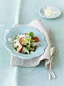 Broad bean and artichoke salad with Parmesan