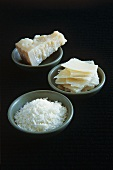 Parmesan cheese (a piece, thinly sliced and grated)