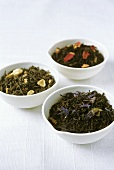 Dried tea leaves with flowers