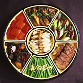 Plate of Chinese appetisers